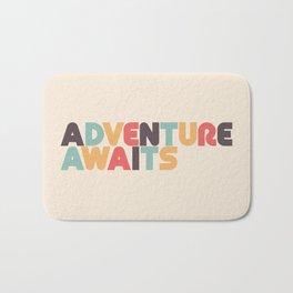 Retro Adventure Awaits Typography Bath Mat