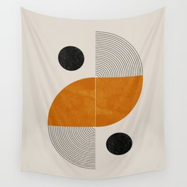 Abstract Geometric Shapes Wall Tapestry