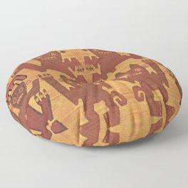 Inca Shaman Spirits Floor Pillow