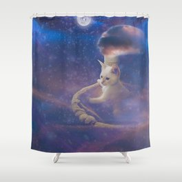 Off and Away Shower Curtain
