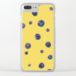 Blueberry Custard Clear iPhone Case