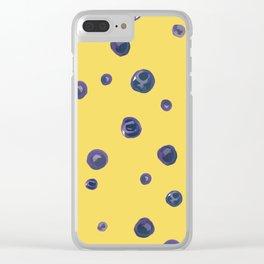 Blueberry Custard Clear iPhone Case