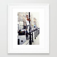 liam payne Framed Art Prints featuring Liam Payne by Becca / But-Like-How