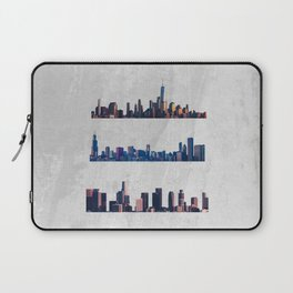 Chicago, New York City, And Los Angeles City Skylines Laptop Sleeve