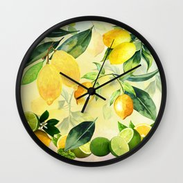 In the Lemon Orchard Wall Clock