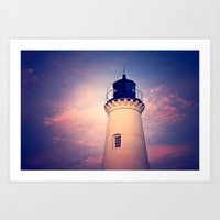 lighthouse Art Prints featuring Lighthouse by JMcCool