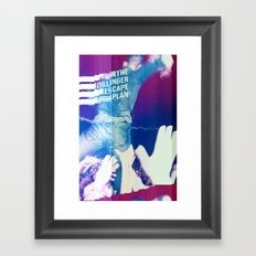 Glitching The Dillinger Escape Plan  Framed Art Print
