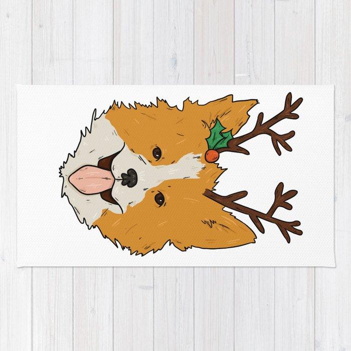 christmas corgi rug - Christmas Corgi