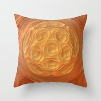 dune Throw Pillows featuring Dune by Lyle Hatch