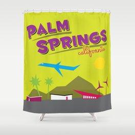 Palm Springs: Jet Set Paradise Shower Curtain