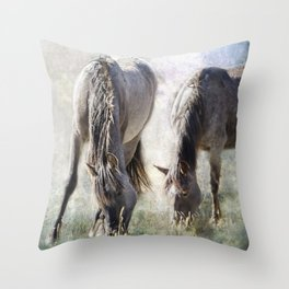 Grazing on Light and Freedom Throw Pillow