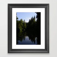 Nature reflecting itself Framed Art Print