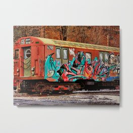 8th Ave Concourse Trolley Metal Print