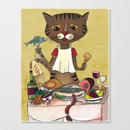 'Owen's Second Breakfast' Canvas Print