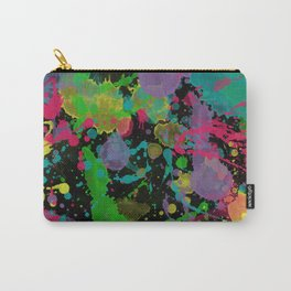 Paint Splatter on Black Background Carry-All Pouch