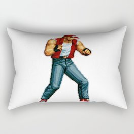 Terry Bogard pixel art Retrogaming Mine Craft Style Rectangular Pillow