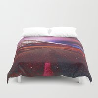 bible verse Duvet Covers featuring Verse II by Daniel Montero