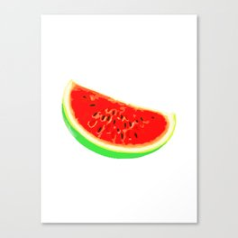 Watermelon, Summer Poster, Summer T-Shirt, white version Canvas Print
