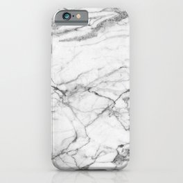 White Marble Stone iPhone Case