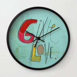 Give Love Wall Clock