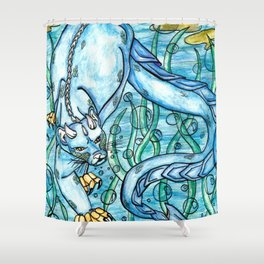 Underwater Panther Shower Curtain