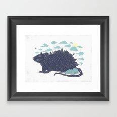 City Rat Framed Art Print