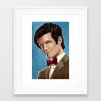 dr who Framed Art Prints featuring Dr Who by MODBLOT: Art of Dan Marek