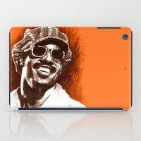 stevie nicks iPad Cases featuring Stevie Wonder by ChrisGreavesArt