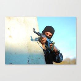 terrorist army soldier military gun Canvas Print
