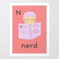 N is for Nerd Art Print