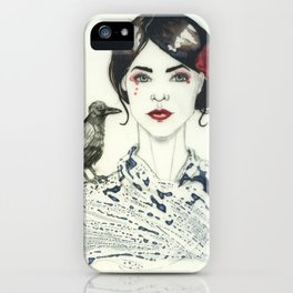 Rose's Raven iPhone Case