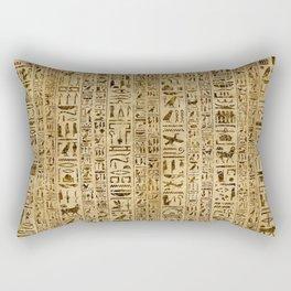 Egyptian hieroglyphs on papyrus Rectangular Pillow