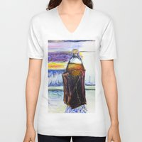 oz V-neck T-shirts featuring 40 oz by JStudio Art