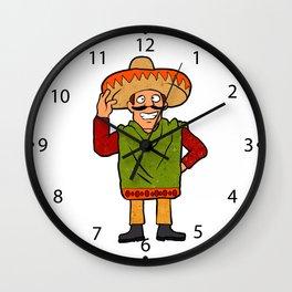 Cartoon happy Mexican Wall Clock