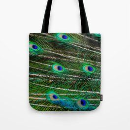 Peacock Feathered Tote Bag