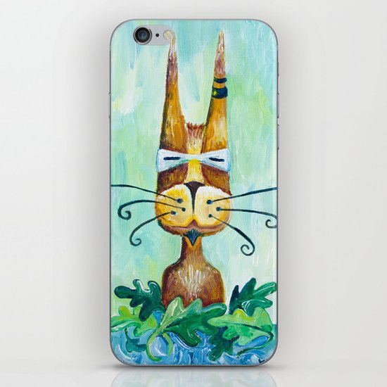 Roofus Whiskers The Cat iPhone & iPod Skin