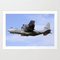 USAF C-130 Aviation take off Art Print