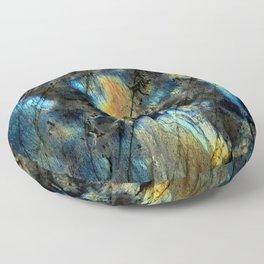 Illuminated Structure: Labradorite1 Floor Pillow