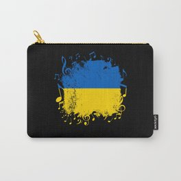 Ukraine Flag Music Carry-All Pouch