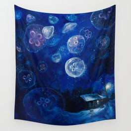 It's Jellyfishing Outside Tonight Wall Tapestry