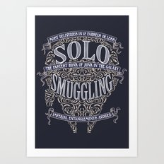 Solo Smuggling Art Print