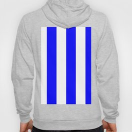 Wide Vertical Stripes - White and Blue Hoody