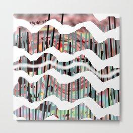 White Line Metal Print