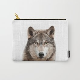 Wolf Art Print by Zouzounio Art Carry-All Pouch