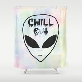 Chill Out Alien Shower Curtain