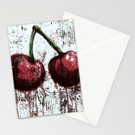 Oil and Cherries Stationery Cards