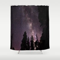 milky way Shower Curtains featuring Milky Way by Holly O'Briant