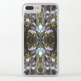 Vintage Forest Rhode Clear iPhone Case
