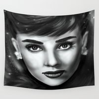 audrey Wall Tapestries featuring Audrey  by Lily Fitch