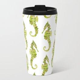 Seahorse – Lime & Gold Travel Mug